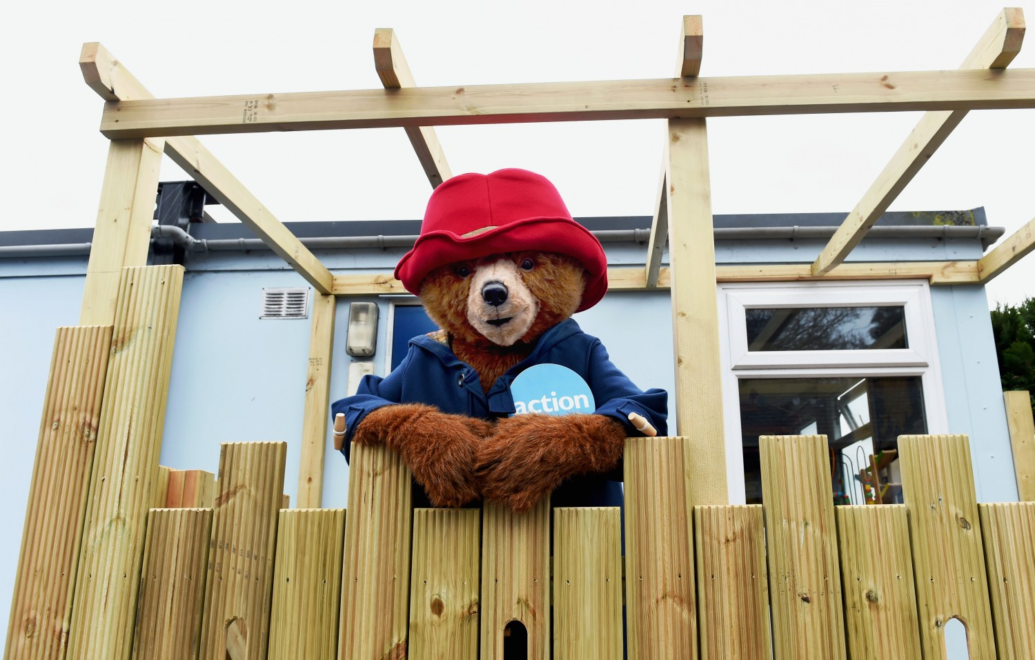Paddington Bear opening our New Fort 2016 after cream teas